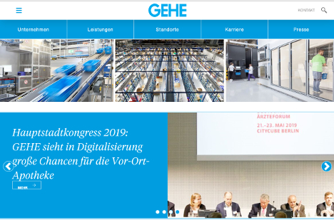 Die Homepage wurde von Grund auf neu entwickelt (Foto: Screenshot / GEHE)