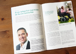 Dr. Wolfram Schmidt, Geschäftsführer von Biogen in Ismaning, sprach im Magazin über die Herausforderungen in Spezialmärkten (Foto: 'Healthcare Marketing')