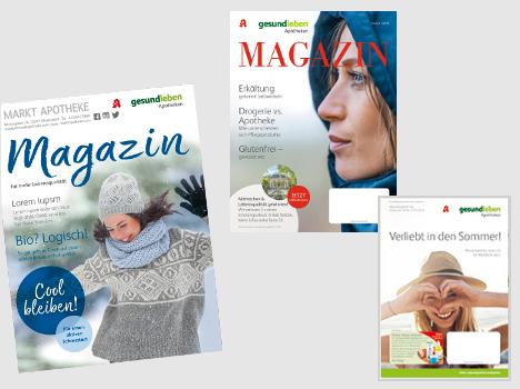 Im neuen Konzept des Kundenmagazins (links) gehen bisheriges Magazin und EV-Broschüren (rechts) zusammen (Foto: gesund leben / Montage)
